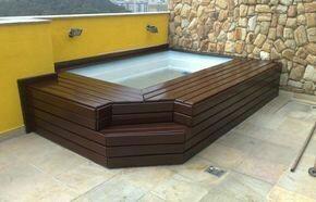 piscina suspensa em cobertura